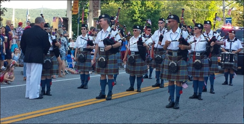 Elgin Pipe Band Schroon Lake 04 July 16