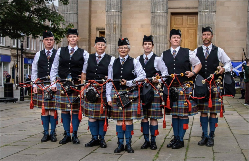 Elgin Pipe Band Scotland Aug 2017
